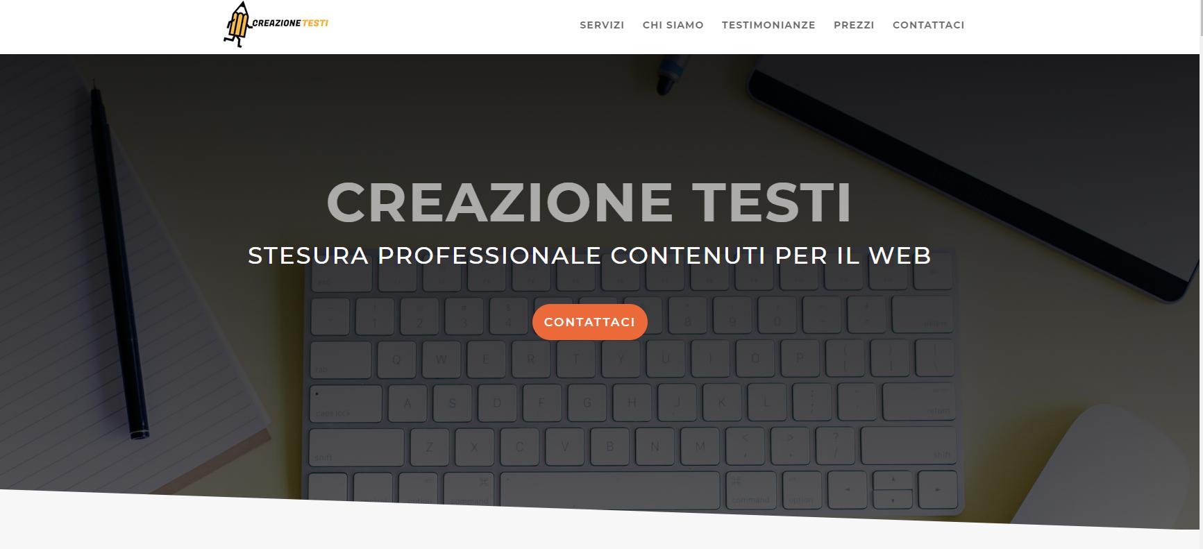 Creazione Testi - Sito web
